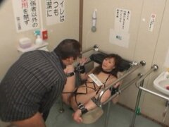 Mosaic; Bound and fucked on Public Toilet 1