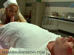 Busty mature nurse get tied and fucked