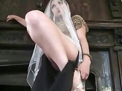 A naughty Turkish wife drives her feet loving hubby mad showing him leg