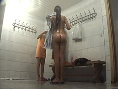 Sensual naked babes in the dressing room