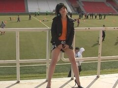 Public flashing in the soccer stands