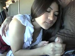 Sexy Asian Mika Tan fingers her pussy and gets it fucked in a car