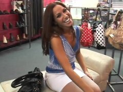 Shoe store hardcore sex with a hot milf