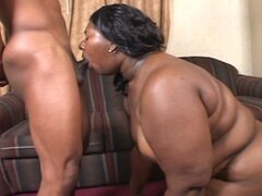Bbw takes steaming hot ebony cock