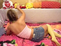 Amateur Teen Couple Playing Around In The Bedroom