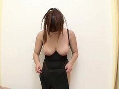 Voyeur Asian girl that is trying the sexy lingerie on