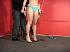 Horny babe tied up, gagged by her master !