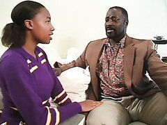 Young black cheerleader is fucked by an elder guy. Tasty video
