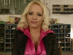 Sarah The Office Blonde Gets Stripped & Dominated