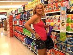 Naughty Blonde Ashley Goes Grocery Shopping