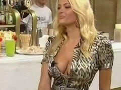 Blonde Italian bombshell cleavage...