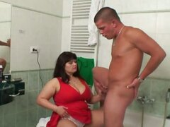 Chubby mother in law fucks him hard
