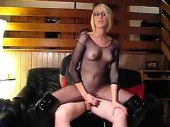 Slutty blonde GF sucking and riding her blindfolded boyfriend