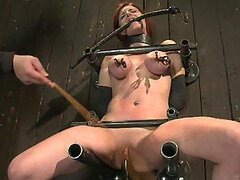 Brutal Redhead Torture For This Hot Babe And Her Round Tits