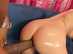 Hot brunette Aletta Ocean gets her tight pussy screwed by a black freak cock