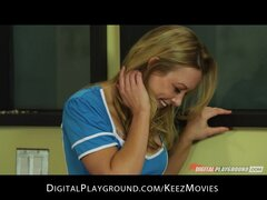 Kayden Cross is shy but shows just how much of a freak she can be