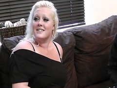 His wife leaves and he fucks blonde fatty