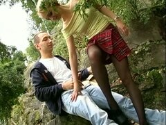 Hot young german couple fucking hard outdoors...