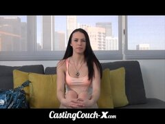 CastingCouch-X 19yo flexible whore tries porn