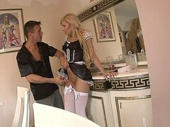 Sexy blonde Spanish maid getting screwed by her boss