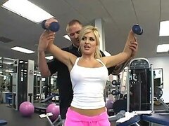 Blonde Beauty Andi Anderson Getting Personal with Her Trainer