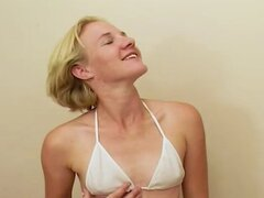 Horny Housewife gives a great blowjob