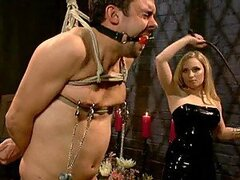 Tough Blonde Dominatrix Gives Her Slave a Hardcore BDSM Scene