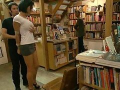 Crazy Gangbang In a Library For a Bounded Busty Brunette