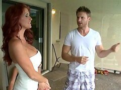Hot Big Breasted Redhead MILF Rhyse Richards Gets a Hard Cock