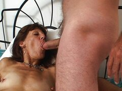 Mature woman fucked in all holes