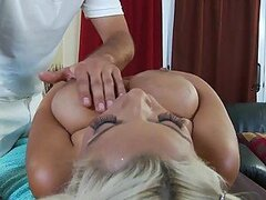 Masseuse Makes Busty Latina Bridgette B Commit Adultery with His Cock