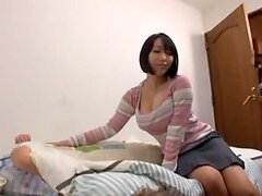 Yuuki Maeda gets her pussy fingered and fucked in missionary position