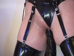 Hot BDSM fingering and squirting