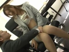 Karen Fujiki hot Japanese office lady, who loves sex