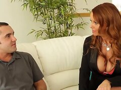 Daniel Hunter and gorgeous milf Janet Mason are spending pleasurable time in this hot action! Milf starts playing with his long shlong by her magic mouth and hands.