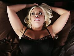 Blonde busty slut Britney is tired of lazy sex with her husband