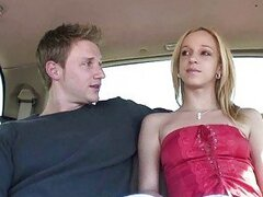 Hitchhiker teen blonde gets pussy licking