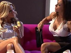 Lucky Dude Joins Lesbians Chanel Preston and Jessica Drake In Threesome