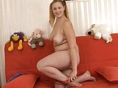Chubby teen Valerie loves a big penis in her mouth