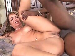 Kelly Leigh the slutty chick gets fucked by Black guy