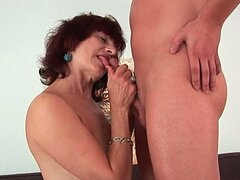 German granny banged by a young stud