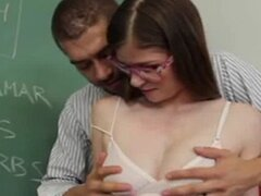 Naughty Lara Brookes fucks the Teacher
