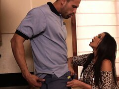 Indian babe Priya Anjali Rai goes down on his rod and fucks doggy style