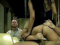 Asian Kaylani Lei and Her Man Having Sex In Public In The Train