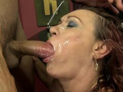 Lupita sucks a fat cock and gets her old pussy fucked deep and hard