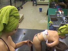 Big Brother Belgium shower