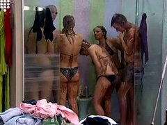 Hot Blonde Teen Girl shower after wrestling