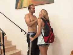 Sexy schoolgirl is picked up and fully fucked