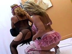Blindfolded Lesbians Go Down On Each Other