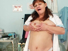 Fat nurse Svetlana shows her natural tits